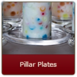 Elegant glass Pillar Plate