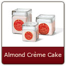 Almond Crème Cake - Savory blend of almonds and creamy icing.