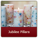Jubilee Pillar Candle - Several fragrances blended to make a unique festive aroma!