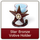 Star Bronze Votive Holder Item #101 - As sturdy as they are classic.