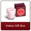 Votive Gift Boxes - Give the gift that says it all! Each box contains a 4 oz. votive in a clear votive glass. Available in all fragrances.