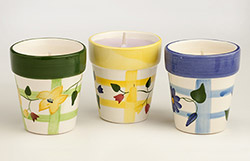 Flower Pot Candle-Blue