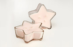 Triple Wick Glass Star-Silver Bells
