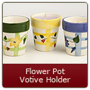 Flower Pot Candle-Yellow - Flower Pot Candle-Yellow