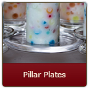 Pillar Plate - Elegant glass Pillar Plate