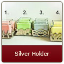 Silver Candle Holders -