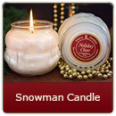 Snowman Candle- Silver Bells - Snowman Candle- Silver Bells