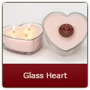 Triple Wick Glass Heart-Red - Triple Wick Glass Heart-Red