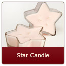 Triple Wick Glass Stars-Stargazing - Triple Wick Glass Star-Stargazing